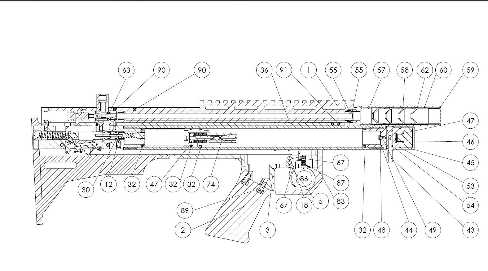 Схема разборки пневматической винтовки фото 626