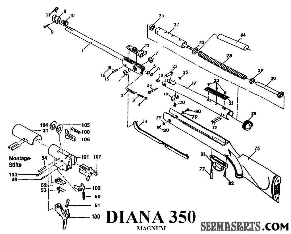 схема пневматики диана